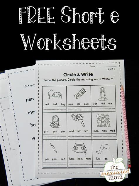 short  worksheets  measured mom