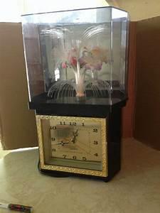 Vintage Octagon Fiber Optic Rotating Flower Lamp With