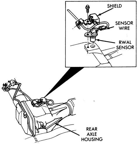 repair anti lock braking 1989 maserati karif auto manual repair guides rear wheel anti lock rwal brake system rwal speed sensor autozone com