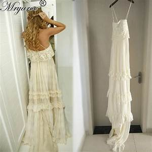 mryarce vintage hippie style boho beach wedding dress sexy With bohemian beach style wedding dresses
