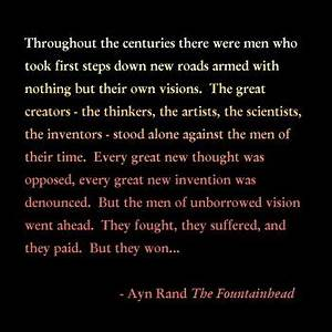 Kougar Kisses: ... Ayn Rand Fountainhead Quotes