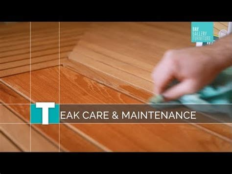 teak outdoor furniture care maintenance youtube