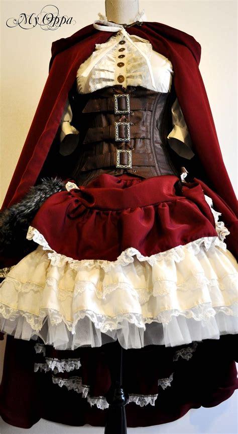 Steampunk Little Red Riding Hood Dress
