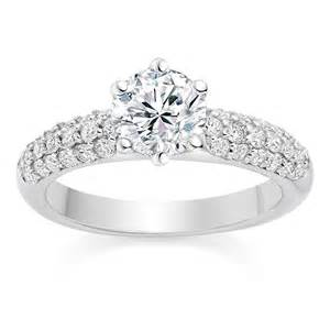 side engagement ring cut 0 95 carat engagement ring with side stones in platinum wedding dress from