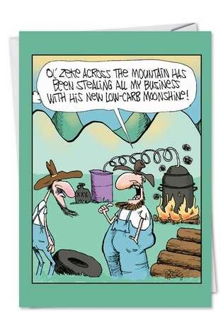 Check spelling or type a new query. Low Carb Moonshine Cartoons Birthday Joke Card Gary Mccoy