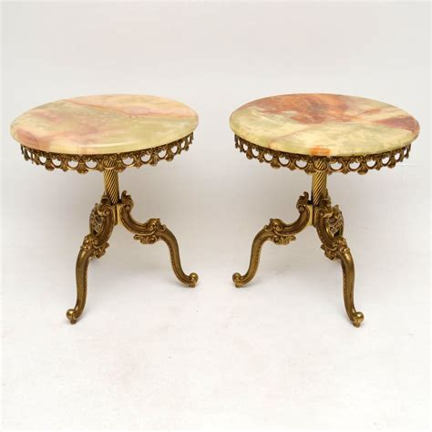 antique brass table ls pair of antique french brass onyx tables marylebone
