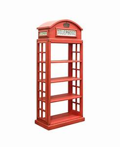 London Red Telephone Booth Bookcase