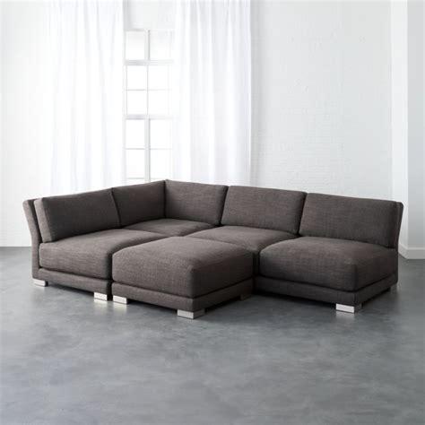 Cb2 Loveseat by Gybson Earth Grey 4 Sofa Cb2