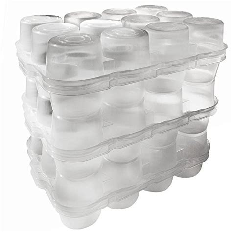 JarBox Protector for Canning Jars, Semi Clear, 12 Pint Jars