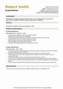 Driver Resume Example Crude Oil Driver Resume Samples Qwikresume