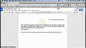 align space text in google docs youtube With google docs add indent
