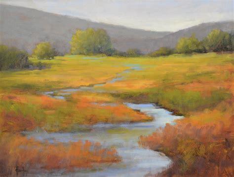 Barbara Churchley Fine Art Marsh Aglow Original