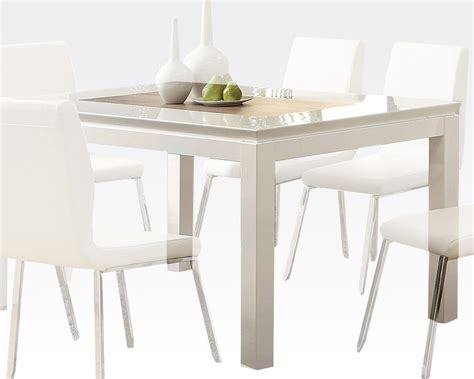 white dining table chairs white dining table kilee by acme furniture ac70990