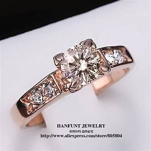 classical cubic zirconia forever wedding rings rose gold With forever wedding rings