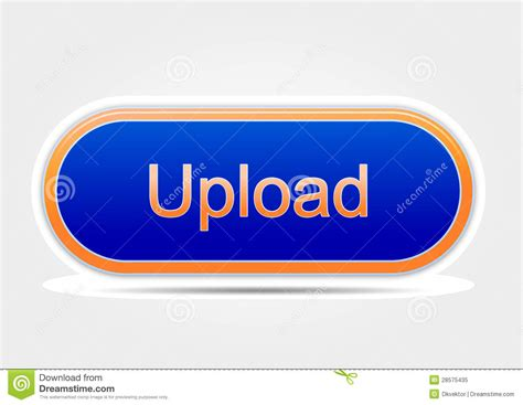 Upload Button Colored Orange And Blue (elipse) Royalty