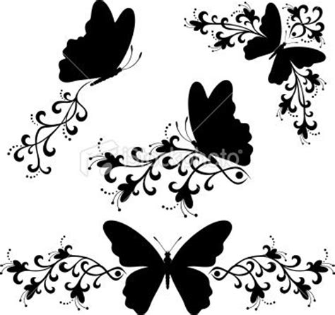 butterfly border black and white black white butterfly silhouette royalty free stock