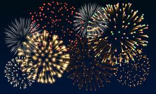 Power And Light New Years Eve by Vector Transparent Background Firework Free Vector