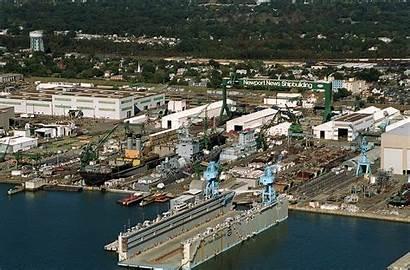 Newport Shipyard Aerial Shipbuilding Uss Beach River