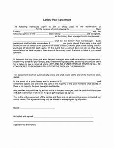 Office lottery pool contract template world of letter for Lottery group contract template