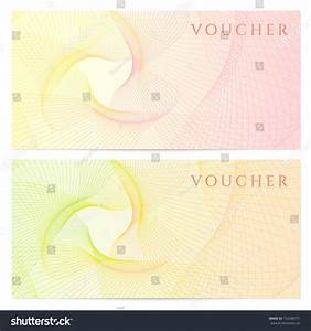 cheque voucher template - voucher gift certificate coupon template colorful stock