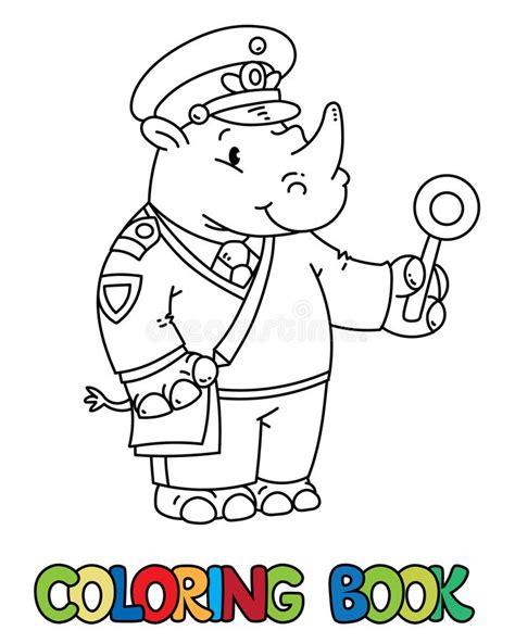 funny railroader coloring book stock vector