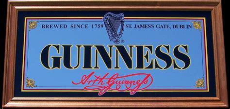 click to enlarge guinness st gate dublin bar mirror