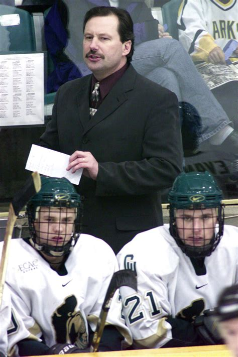college hockey coach mark morris    kind