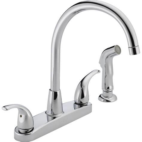 high arc kitchen faucets shop peerless chrome 2 handle deck mount high arc kitchen