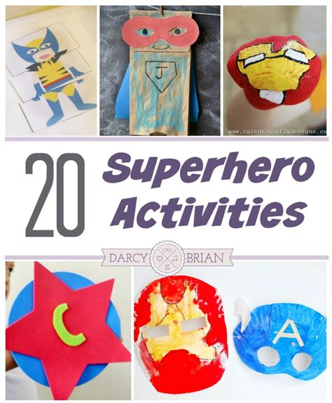 20 activities for to make and do 670 | superhero activities collage