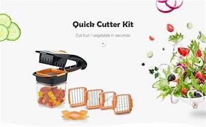 Nicer Dicer Quick Preisvergleich : fruits cutter kit quick stainless steel vegetable chopper in orange ~ Yasmunasinghe.com Haus und Dekorationen