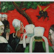 Vision After The Sermon  Paul Gauguin Oil Painting Reproductions