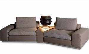 Modular sofa with corner table miami rugiano luxury for Sectional couches in miami