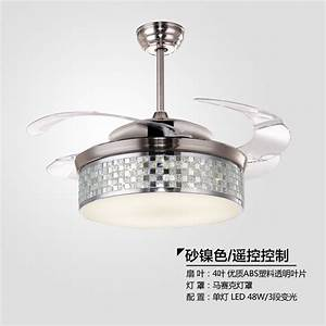 Ultra quiet quot hidden blade ceiling fan lamps v