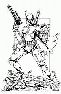 Boba Fett Helmet Coloring Pages - Coloring Home