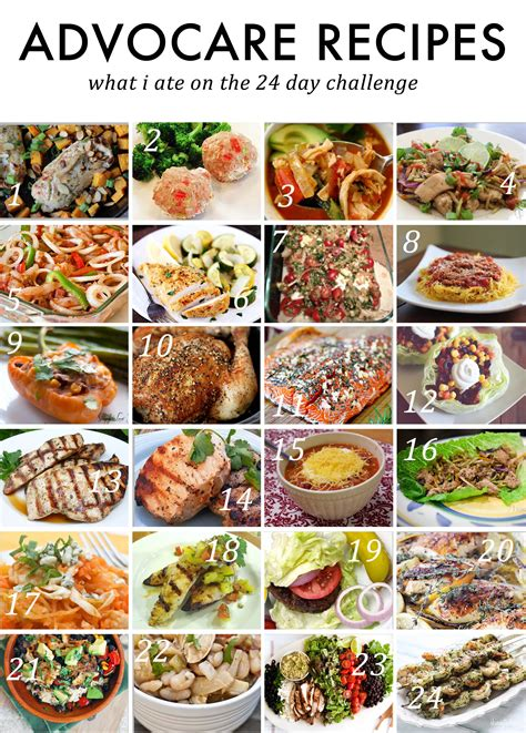 advocare 24 day challenge meal plan 187 jenny collier blog