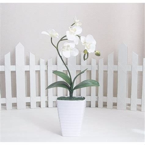 Pot Anggrek Plastik jual bunga anggrek artificial pot melamin besar tanaman