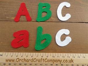 5 cm adhesive felt letters x 5 With self adhesive letters for fabric