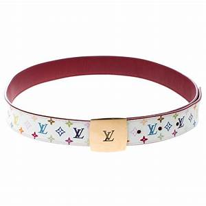 Buy Louis Vuitton White Multicolor Monogram Canvas LV Cut ...
