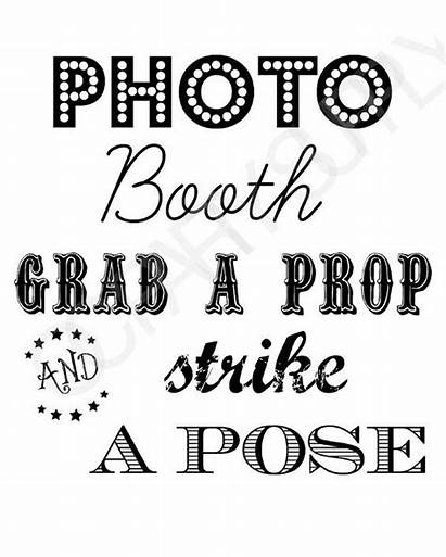 Printable Sign Booth Props Selfie Station Saying
