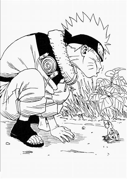 Naruto Coloring Pages Angry Uzumaki Frog Drawing