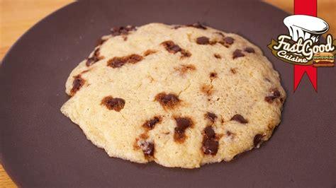 recette rapide et simple le cookie au micro ondes