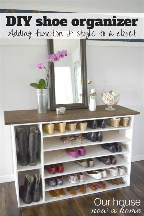 Low Cost Closet Organization Ideas by How To Make A Diy Shoe Organizer And Rack For The Closet
