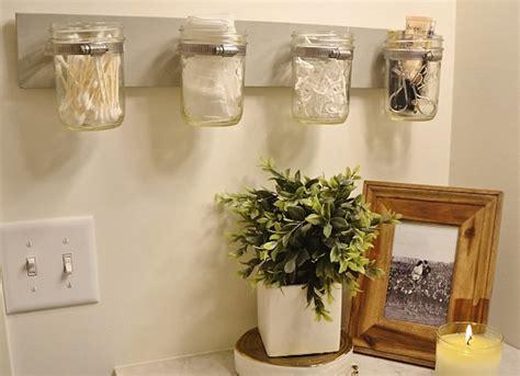mason jar bathroom storage  bathroom storage ideas