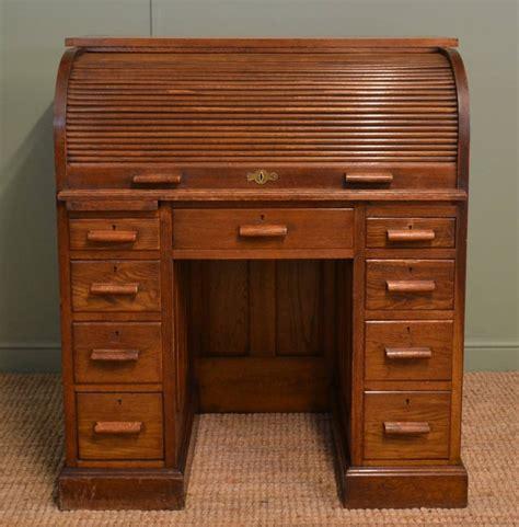 Oak Edwardian Antique Roll Top Desk 258251