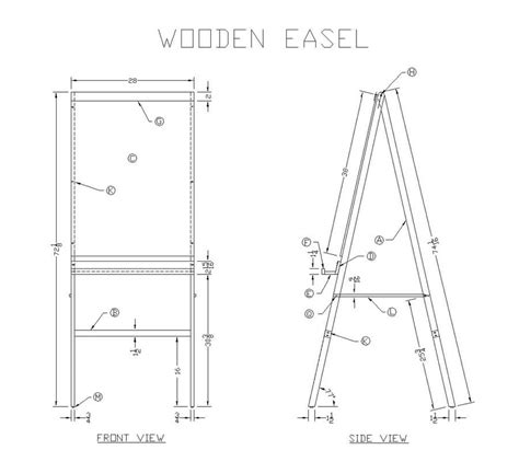 wood easel plans   woodworking