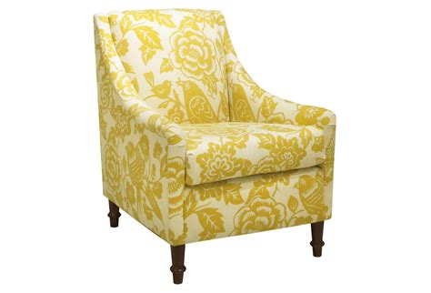 Holmes Floral Swoop-arm Chair, Green, From One Kings Lane