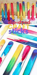 science idea dip dyed craft sticks project science