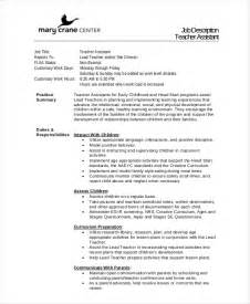resume format template for job description 12 teacher job descriptions free sle exle format free premium templates