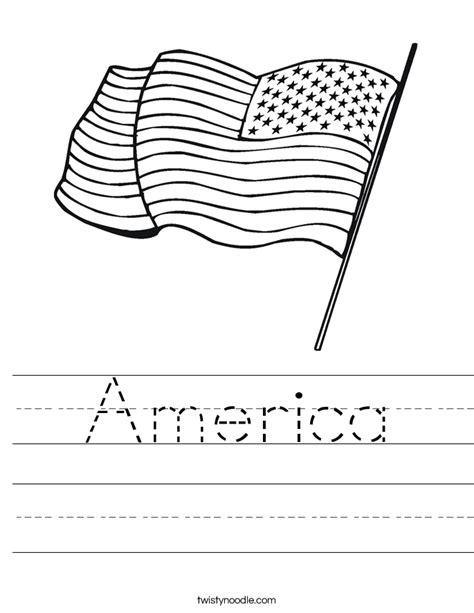 America Worksheet  Twisty Noodle