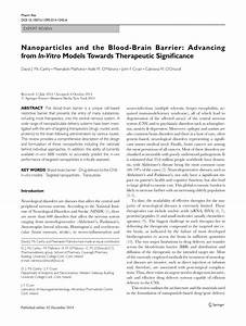 (PDF) Nanoparticles and the Blood-Brain Barrier: Advancing ...